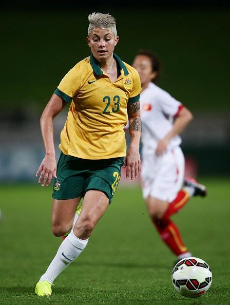 during the international women's friendly match between the Australian Matildas and Vietnam at WIN Jubilee Stadium on May 21, 2015 in Sydney, Australia.
