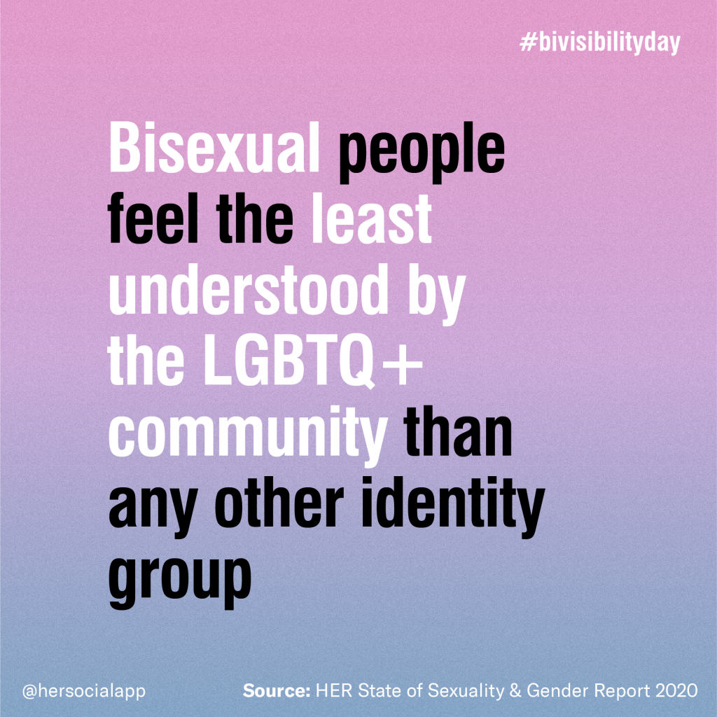 bisexual people feel the least understood by the lgbtq+ community than any other identity